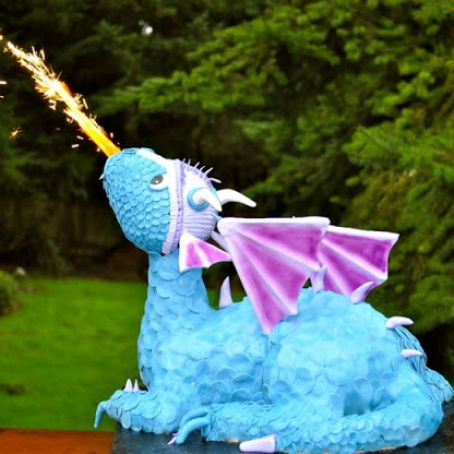 How To Make a Fire Breathing Dragon Cake