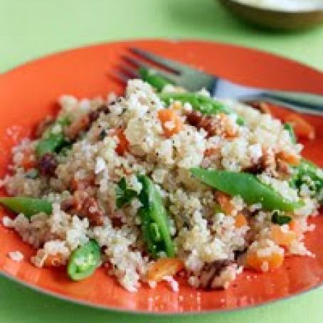 Quinoa Risotto with Carrots and Sugar Snaps