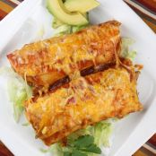 Beef Cheese Enchiladas with Zucchini