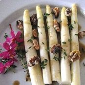 White Asparagus With Black Garlic Vinaigrette