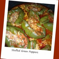 Pressure Cooker Stuffed Peppers
