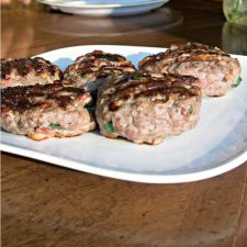 Bacon-Studded Venison Burgers
