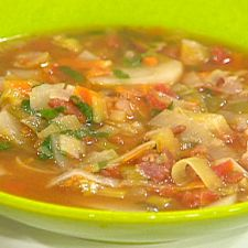 BLT and P (Bacon, Leek, Tomato and Potato) Soup - Rachael Ray