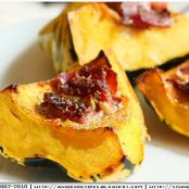 Carnival Squash with Smoked Bacon and Rosemary-Baked