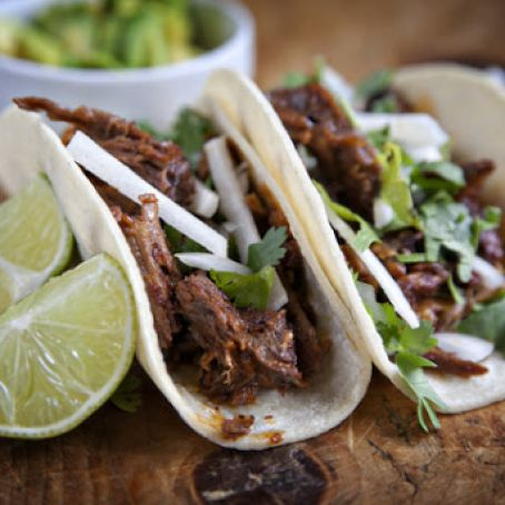 Lamb Barbacoa with Avocado Tacos
