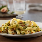 Penne with Cauliflower, Toasted Pine Nuts and Romano Cheese