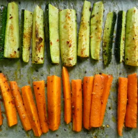 Oven Roasted Carrots & Zucchini