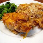 Pork Chop and Hashbrown Bake