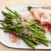 Asparagus with Prosciutto and Pickled Shallots