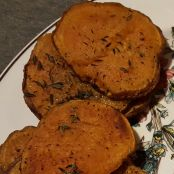 Roasted Sweet Potato Rounds with Fresh Thyme