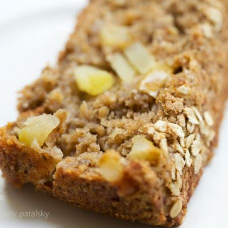 Apple Banana Bread with Almond Butter Drizzle