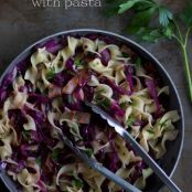 sautéed purple cabbage with pasta