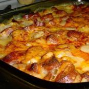 Cheesy Smoked Sausage & Potato Casserole Recipe