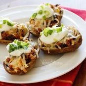 Loaded Turkey Santa Fe Baked Potato Skins