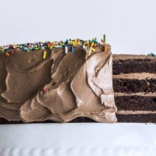 Four-Layer Chocolate Birthday Cake with Milk Chocolate Ganache & Nutella Buttercream