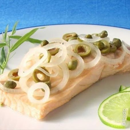 Champagne-Poached Salmon with Capers & Tarragon