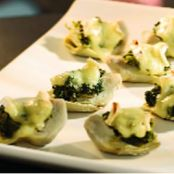 Spinach & Brie Topped Artichoke Hearts