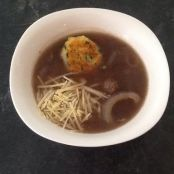 Gingered Onion and Beef Soup with French Bread Dumplings