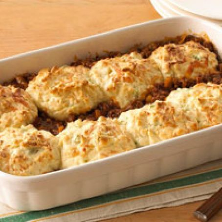 Biscuit Topped Tomato Beef Bake