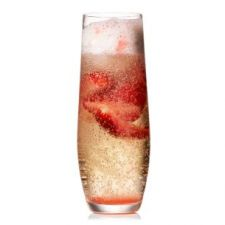Strawberry Prosecco Floats