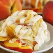 Peaches & Cream Cinnamon Rolls