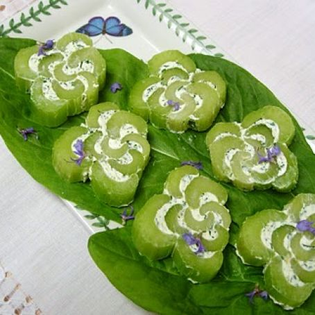 Celery Roses Stuffed with Herb Cream Cheese