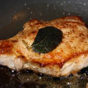 Pork Chops in Brown Butter with Crispy Sage Leaves