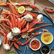 Steamed Crab Legs with Four Sauces