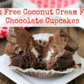 Paleo Chocolate Cupcakes With Coconut Cream Filling (LOW CARB AND PALEO FRIENDLY)