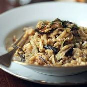 Risotto with Leeks, Truffles, and Mushrooms