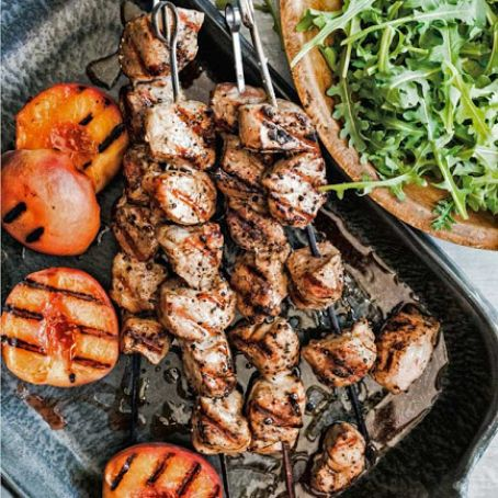 Grilled Pork with Peaches