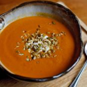 Pumpkin Soup With Ancho and Apple