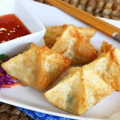 Goat Cheese & Bacon Wontons with Dipping Sauce