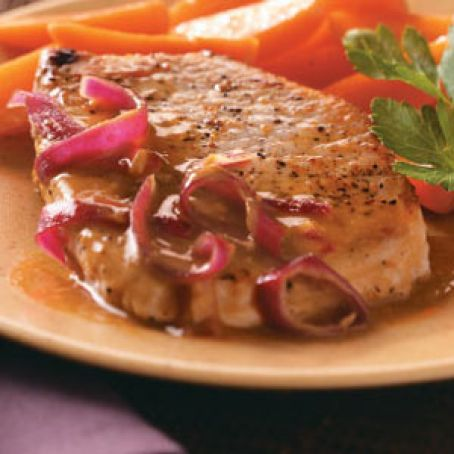 Onion-Dijon Pork Chops Recipe