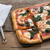 Spinach & Fresh Mozzarella Pizza