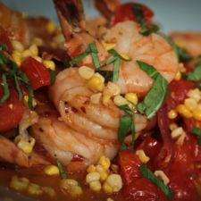 Michael Symon's Shrimp with Corn and Basil
