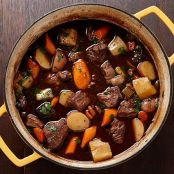 Beef Stew with Root Vegetables & Horseradish