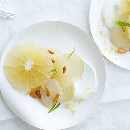 Grapefruit and White Beets with Yogurt and Tarragon