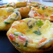 Basil & Veggie Mini Quiches