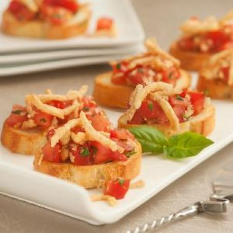 Crunchy Onion Bruschetta