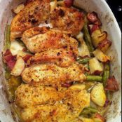 Garlic Lemon Chicken Green Beans & Red Potatoes