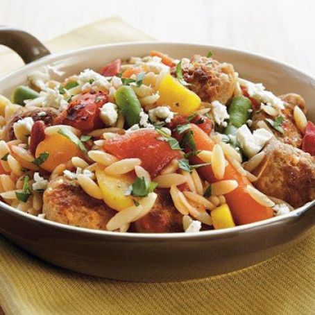 Italian Sausage and Orzo Skillet