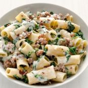 Rigatoni with Swiss Chard & Sausage