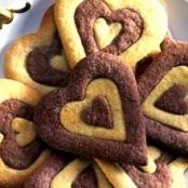 Mary Berry's Two-Tone Heart Biscuits