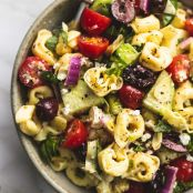 Greek Tortellini Pasta Salad