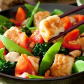 Vegan Thai Vegetable Stir Fry with Tofu