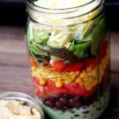 Taco Salad To Go In A Jar