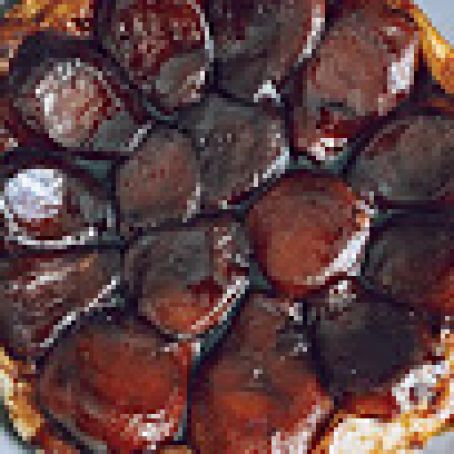 Pear Tarte Tatin with Red-Wine Caramel