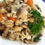 White & Brown Rice Pilaf