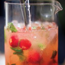Strawberry, Basil and Honey Punch